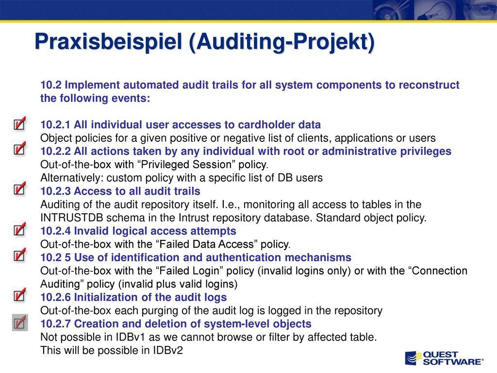 Praxisbericht am Beispiel PCI DSS