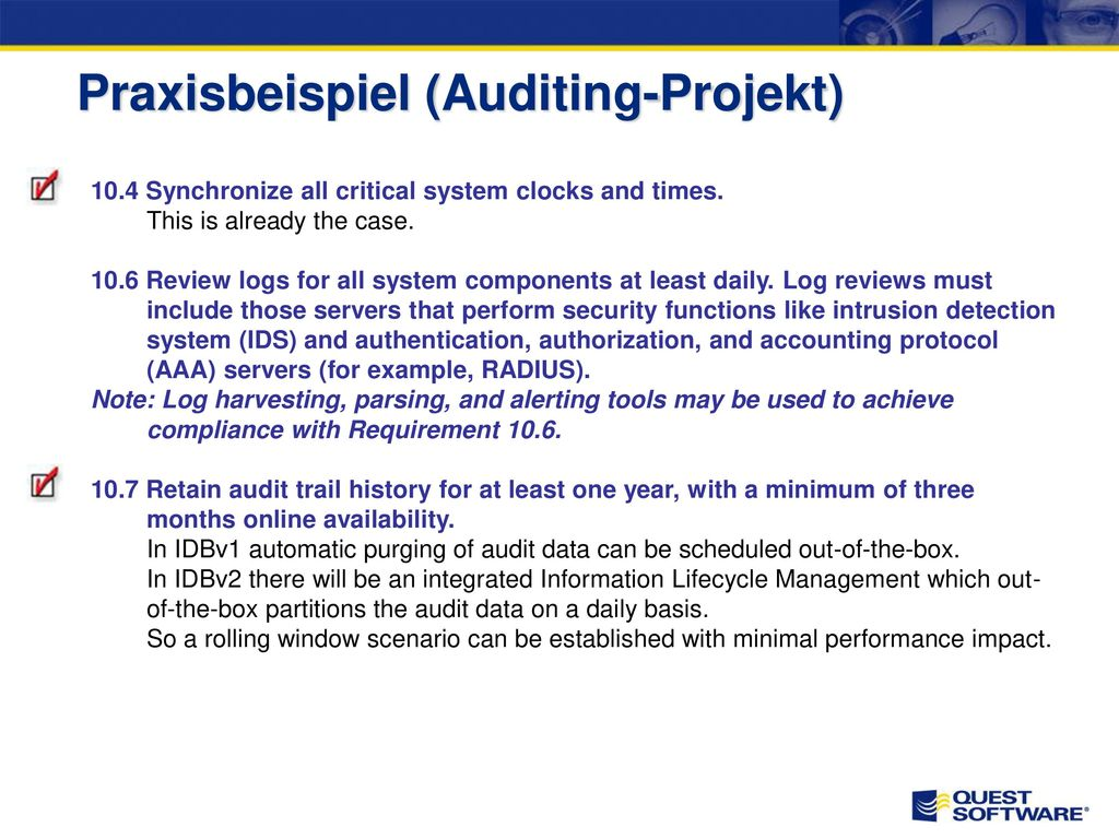 Praxisbeispiel (Auditing-Projekt)