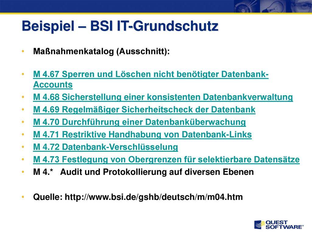 Beispiel – BSI IT-Grundschutz