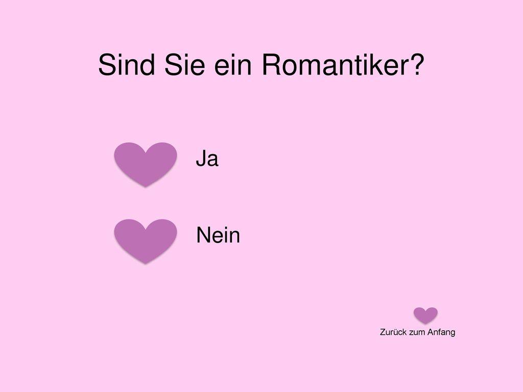 Sind Sie ein Romantiker