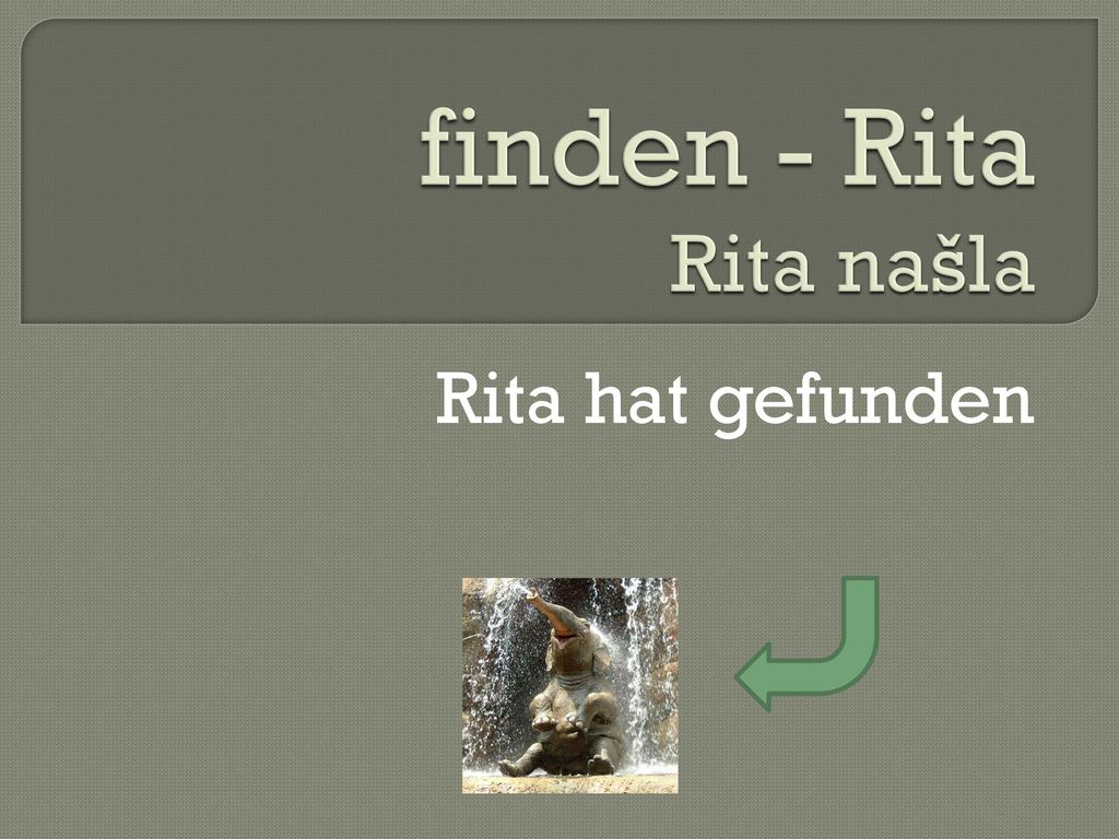 finden - Rita Rita našla