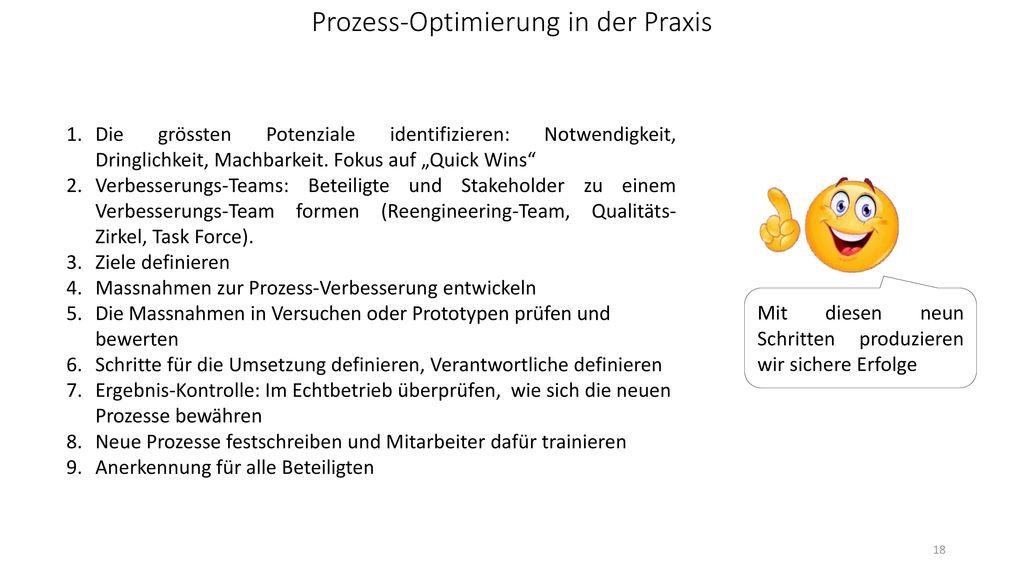 Prozess-Optimierung in der Praxis