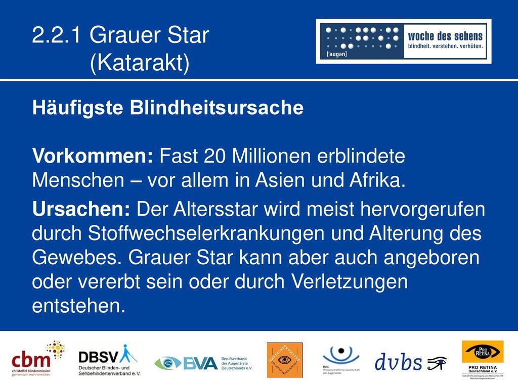 2.2.1 Grauer Star (Katarakt)