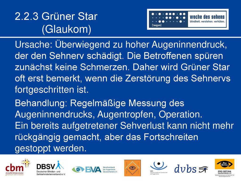 2.2.3 Grüner Star (Glaukom)