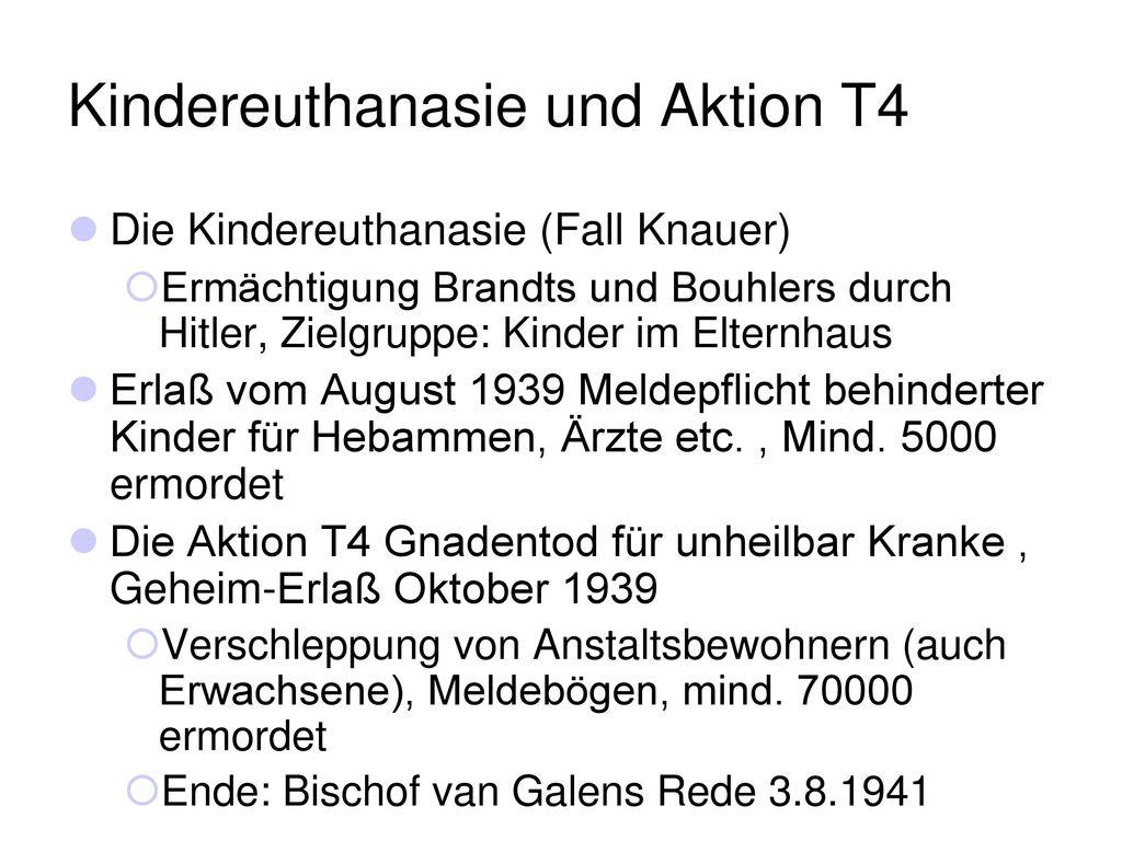 Kindereuthanasie und Aktion T4