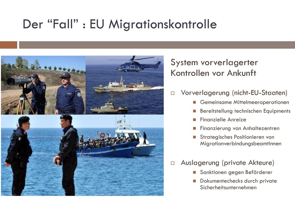 Der Fall : EU Migrationskontrolle
