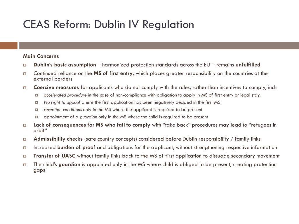 CEAS Reform: Dublin IV Regulation