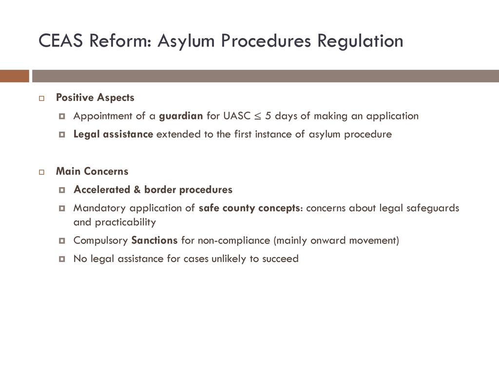 CEAS Reform: Asylum Procedures Regulation