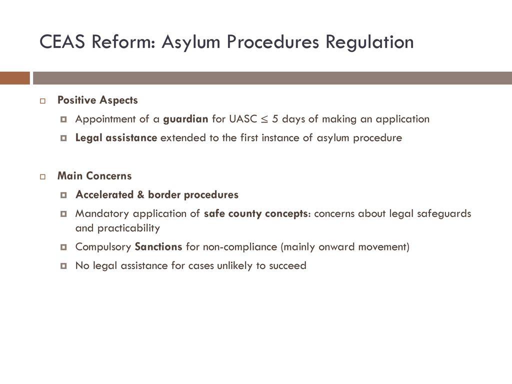 CEAS Reform: Asylum Procedures Regulation