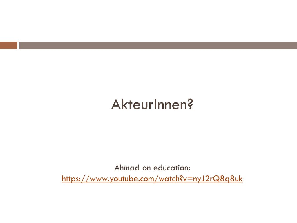 Ahmad on education: https://www.youtube.com/watch v=nyJ2rQ8q8uk