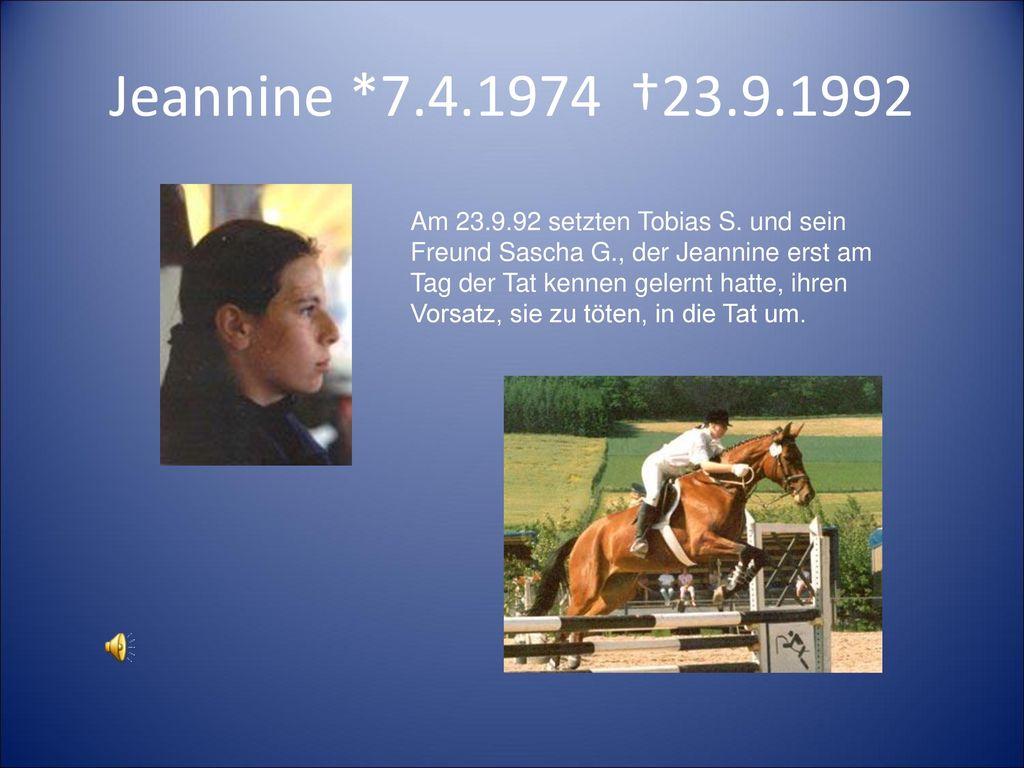 Jeannine *7.4.1974 †23.9.1992