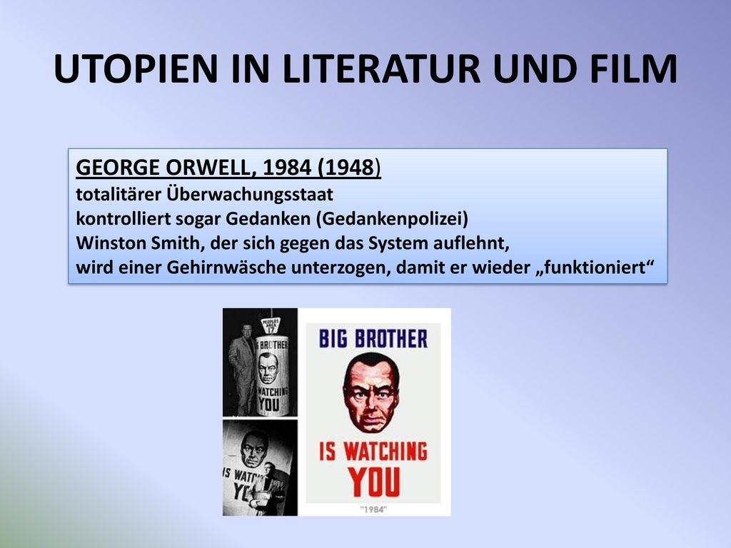 UTOPIEN IN LITERATUR UND FILM