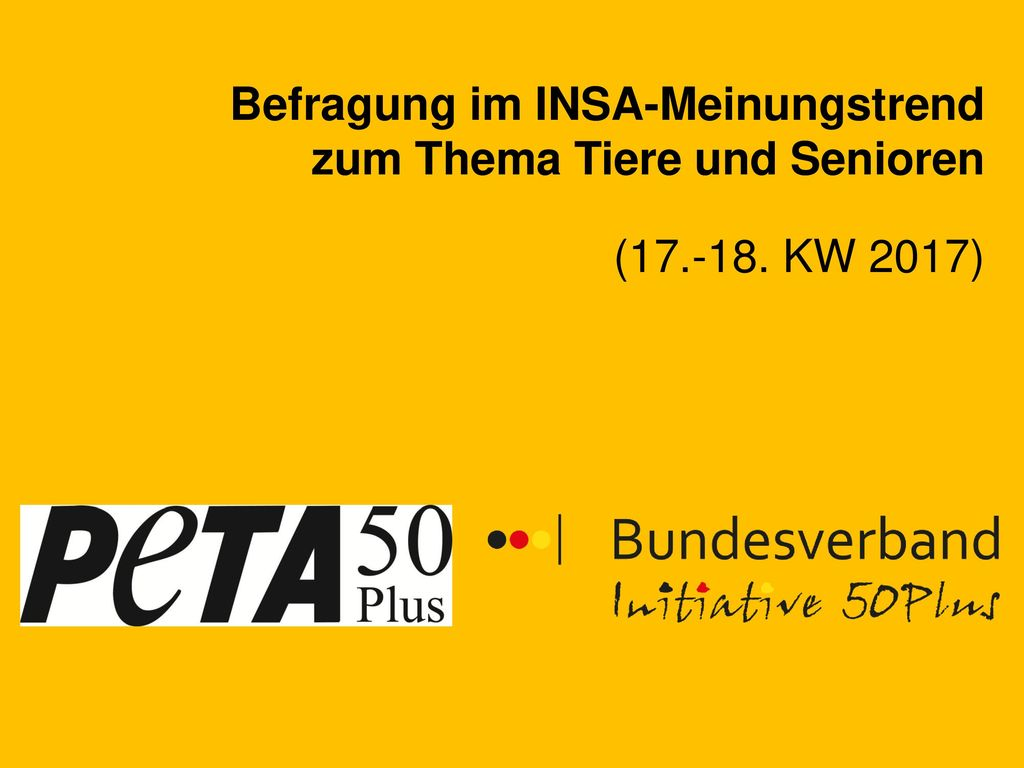 Befragung im INSA-Meinungstrend zum Thema Tiere und Senioren
