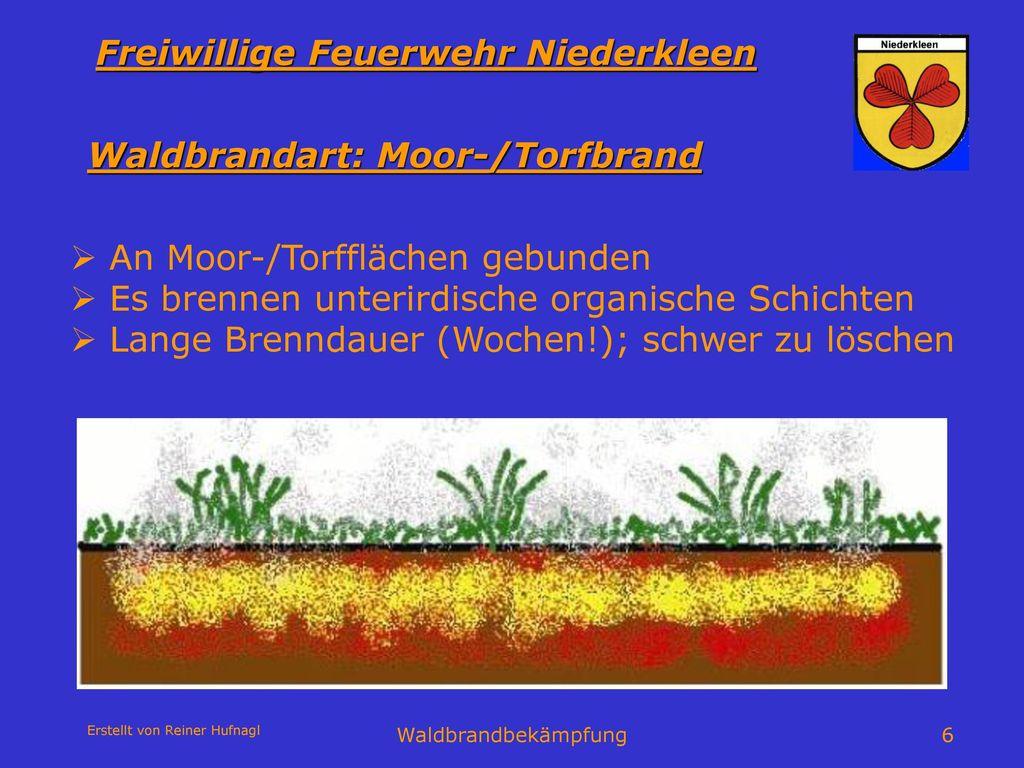 Waldbrandart: Moor-/Torfbrand