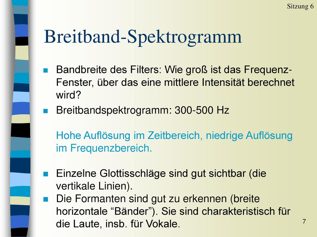 Breitband-Spektrogramm