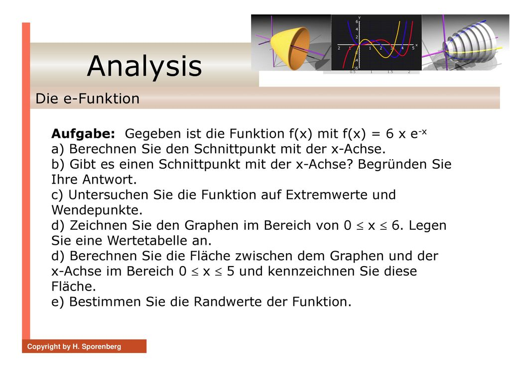 Analysis Die e-Funktion