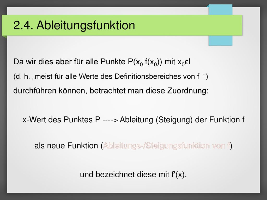 2.4. Ableitungsfunktion