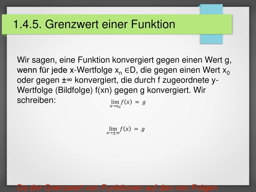 1.4.5. Grenzwert einer Funktion