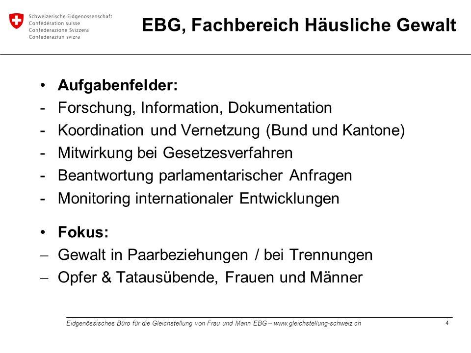 EBG, Fachbereich Häusliche Gewalt