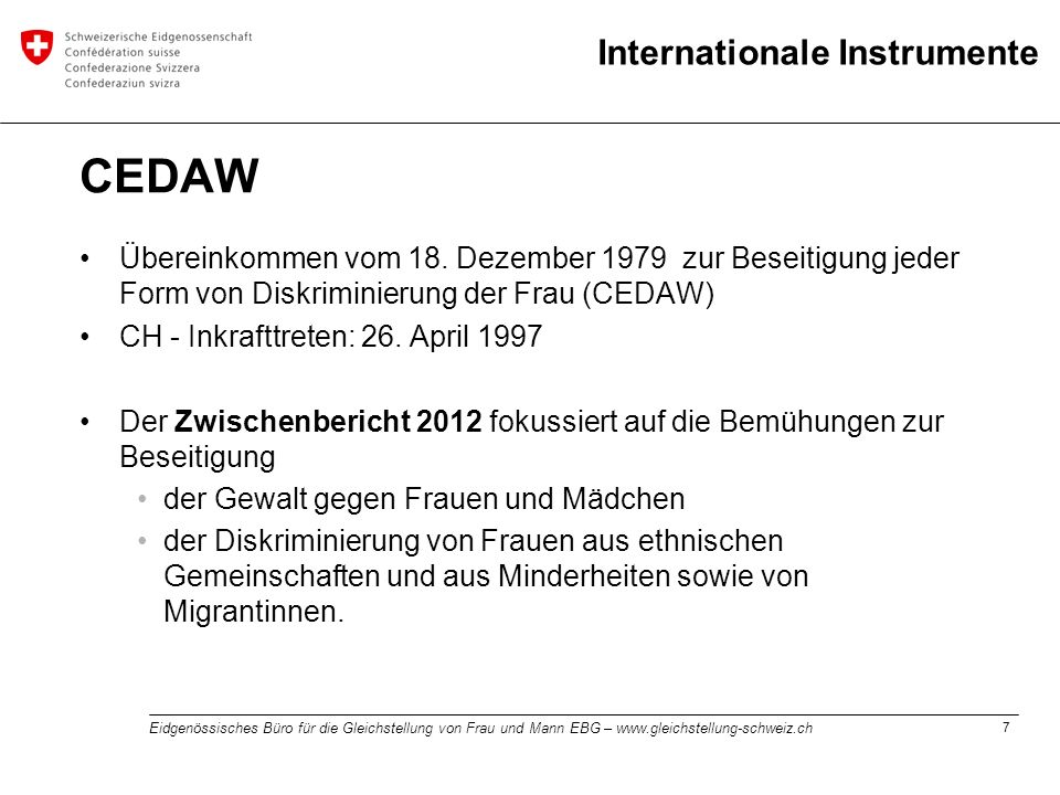 Internationale Instrumente