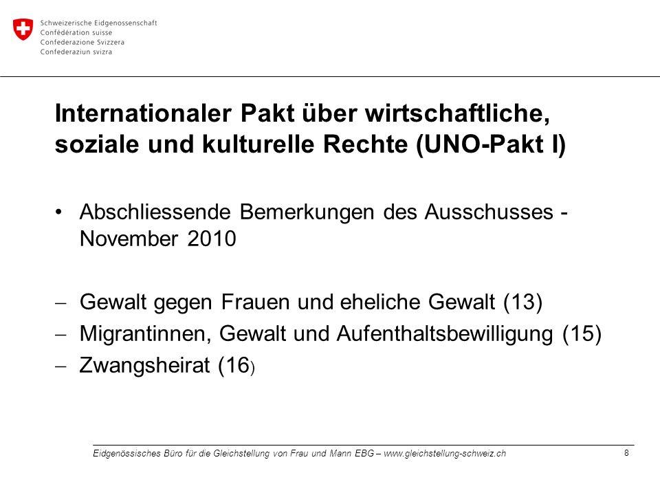 Internationaler Pakt über wirtschaftliche, soziale und kulturelle Rechte (UNO-Pakt I)