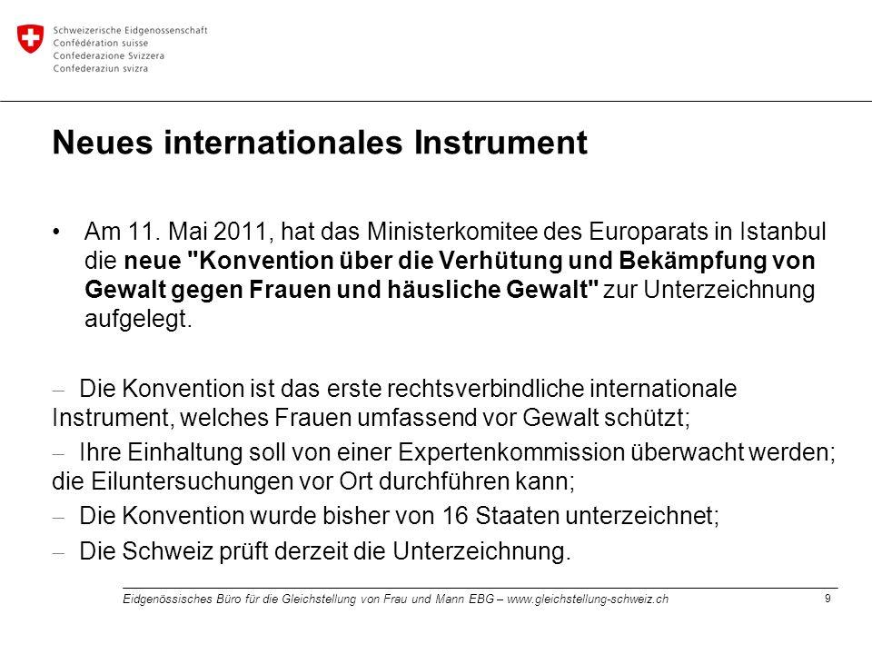 Neues internationales Instrument
