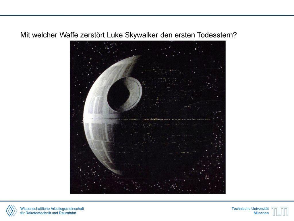 Mit welcher Waffe zerstört Luke Skywalker den ersten Todesstern