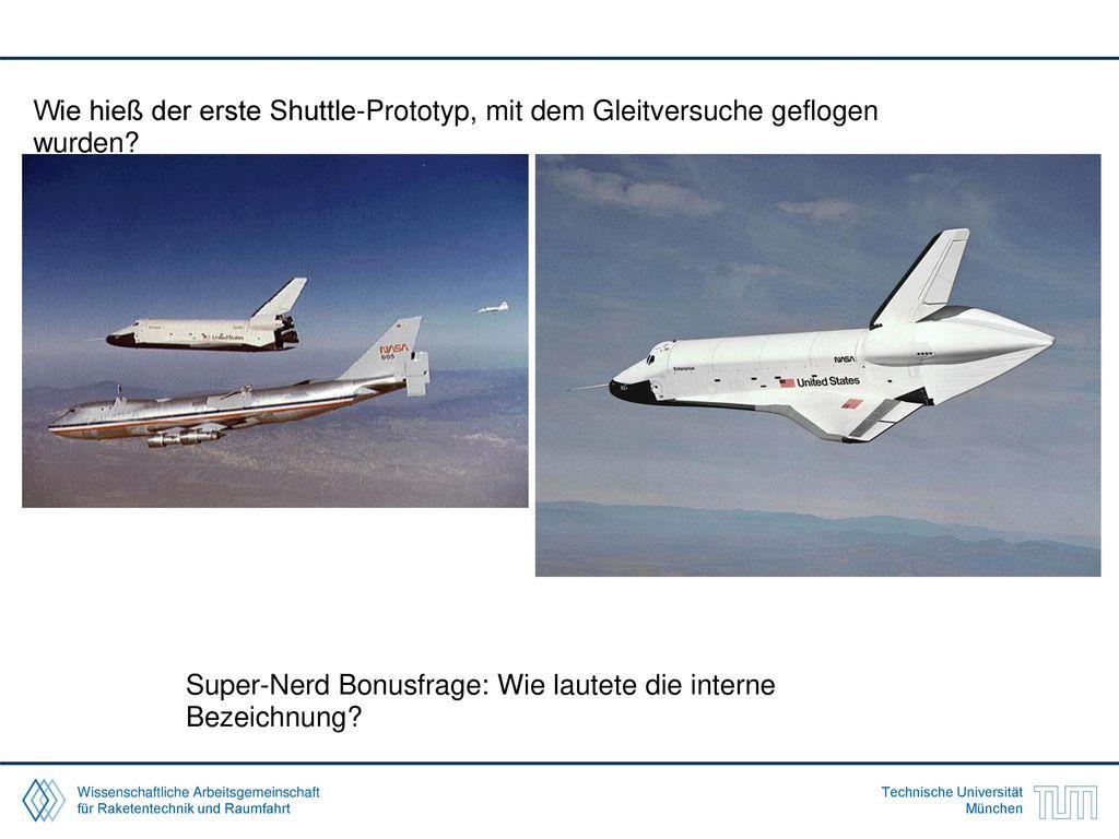 Wie hieß der erste Shuttle-Prototyp, mit dem Gleitversuche geflogen wurden