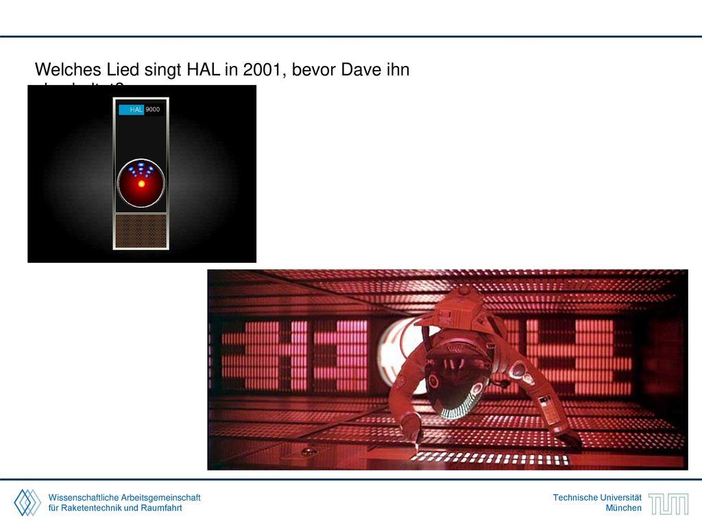 Welches Lied singt HAL in 2001, bevor Dave ihn abschaltet