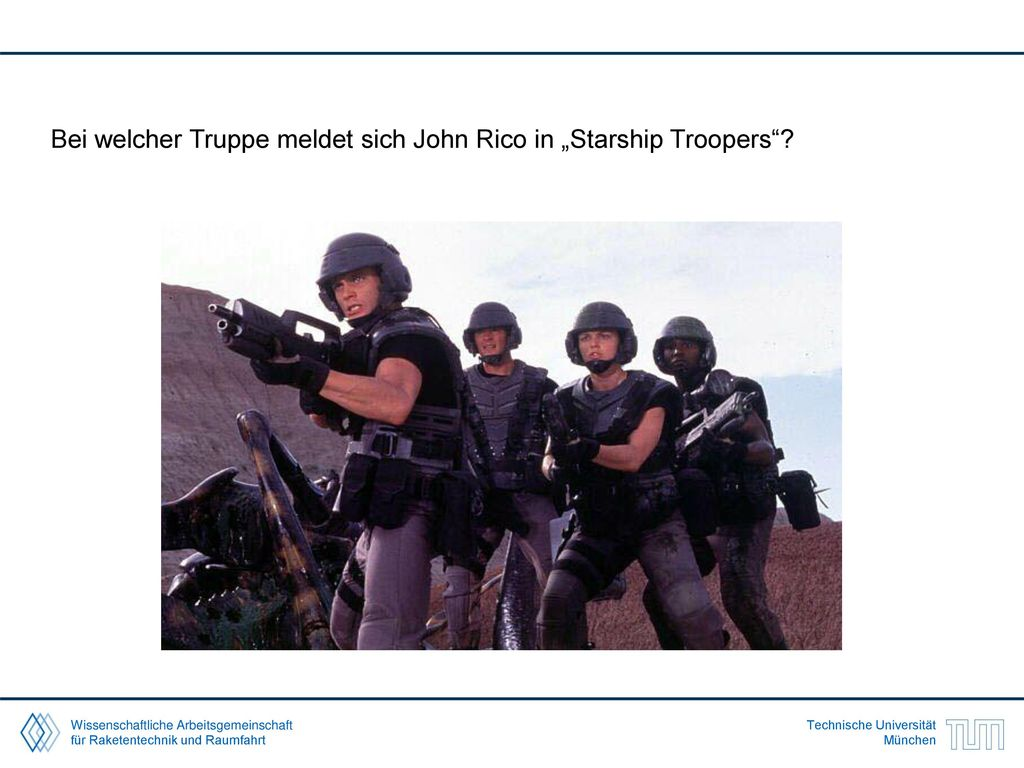 "Bei welcher Truppe meldet sich John Rico in ""Starship Troopers"