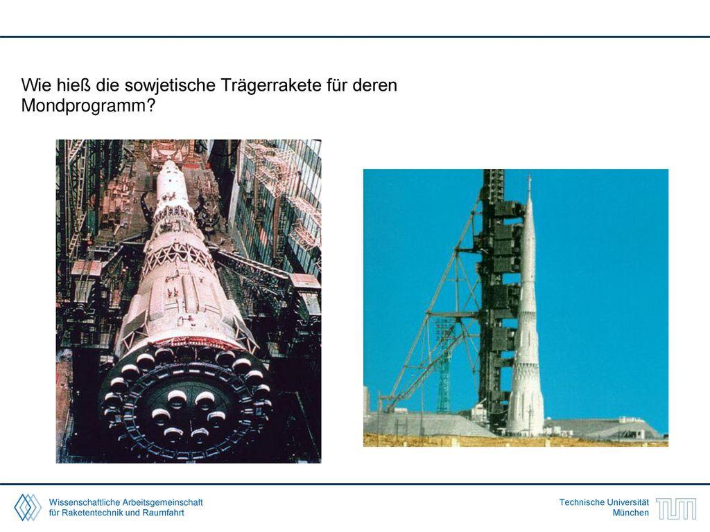Wie hieß die sowjetische Trägerrakete für deren Mondprogramm