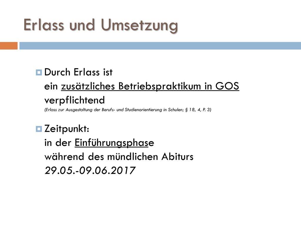 11/19/2017 Erlass und Umsetzung.