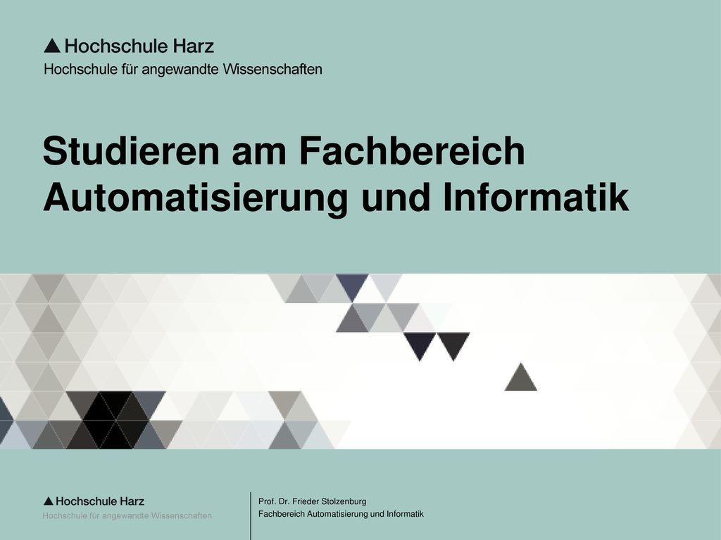 Studieren am Fachbereich Automatisierung und Informatik