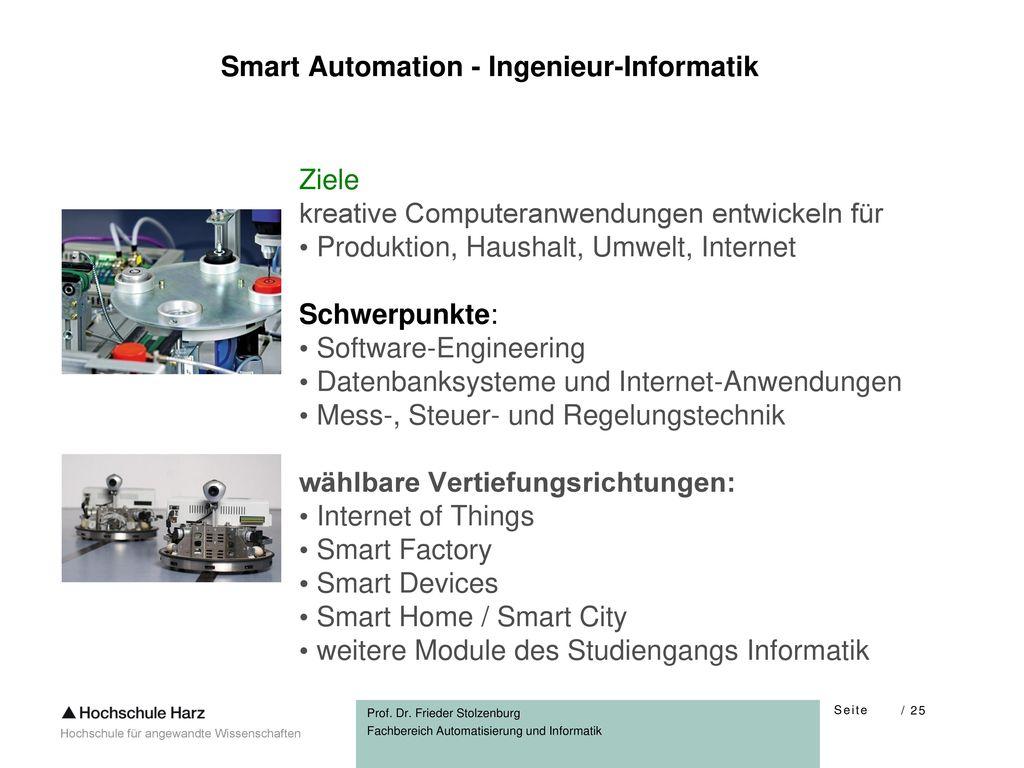 Smart Automation - Ingenieur-Informatik