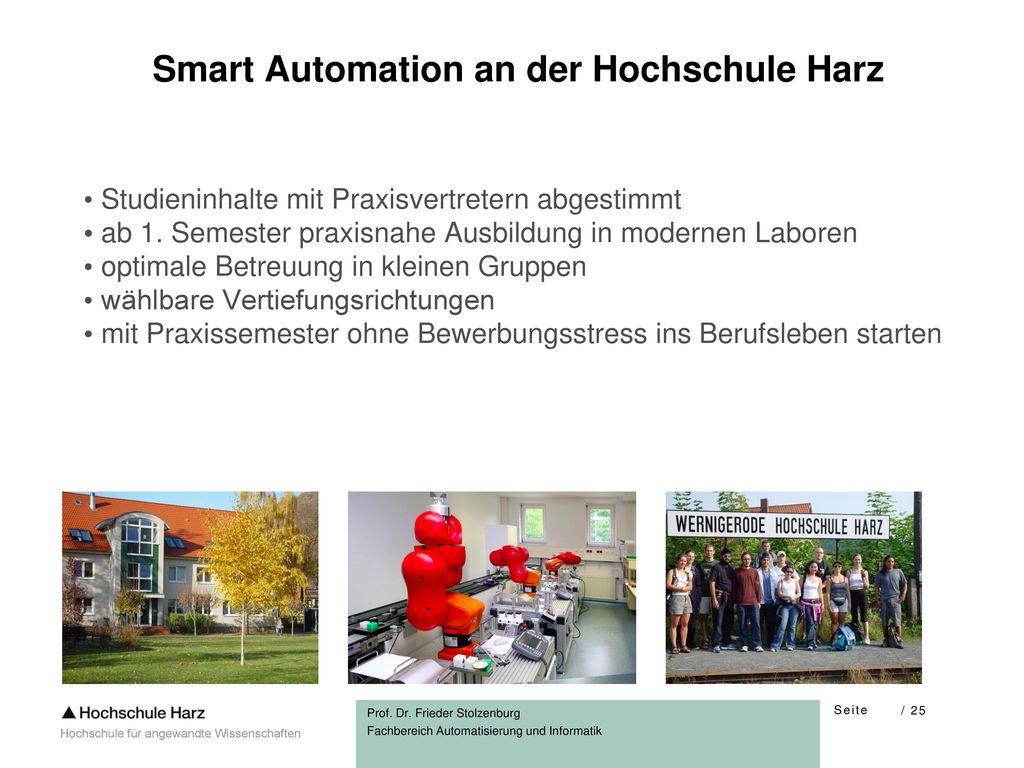 Smart Automation an der Hochschule Harz