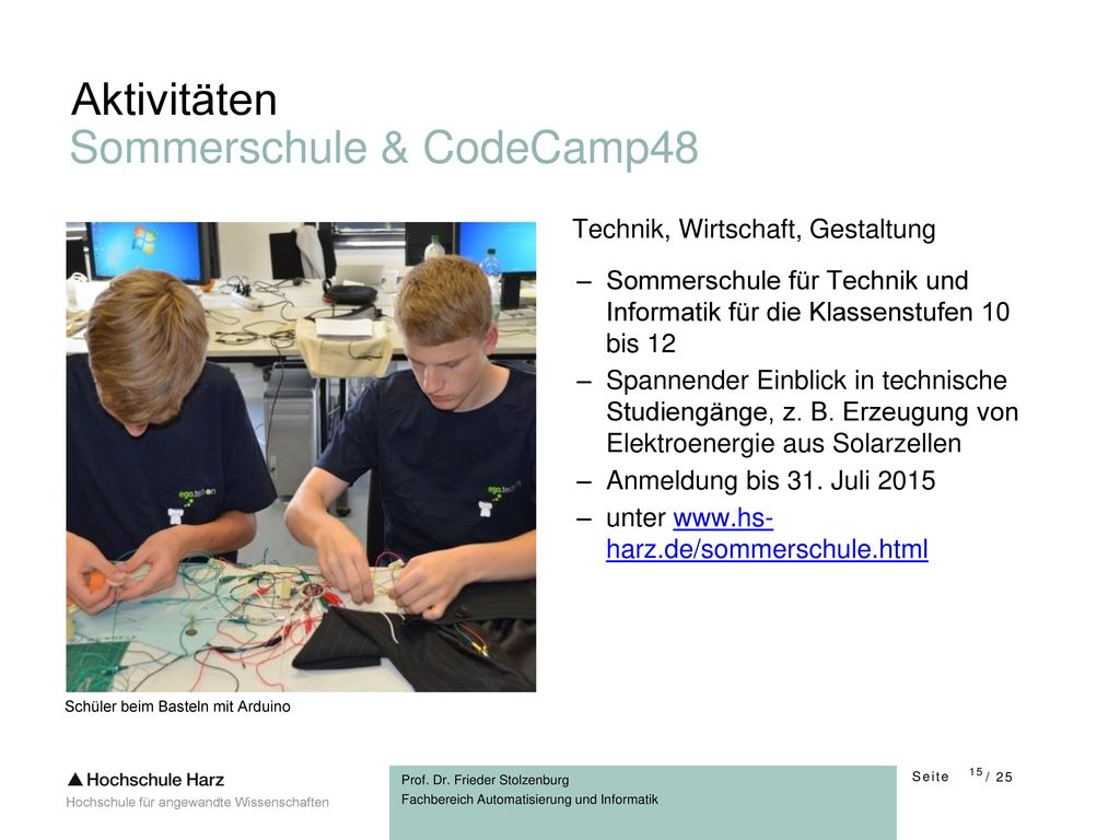 Sommerschule & CodeCamp48