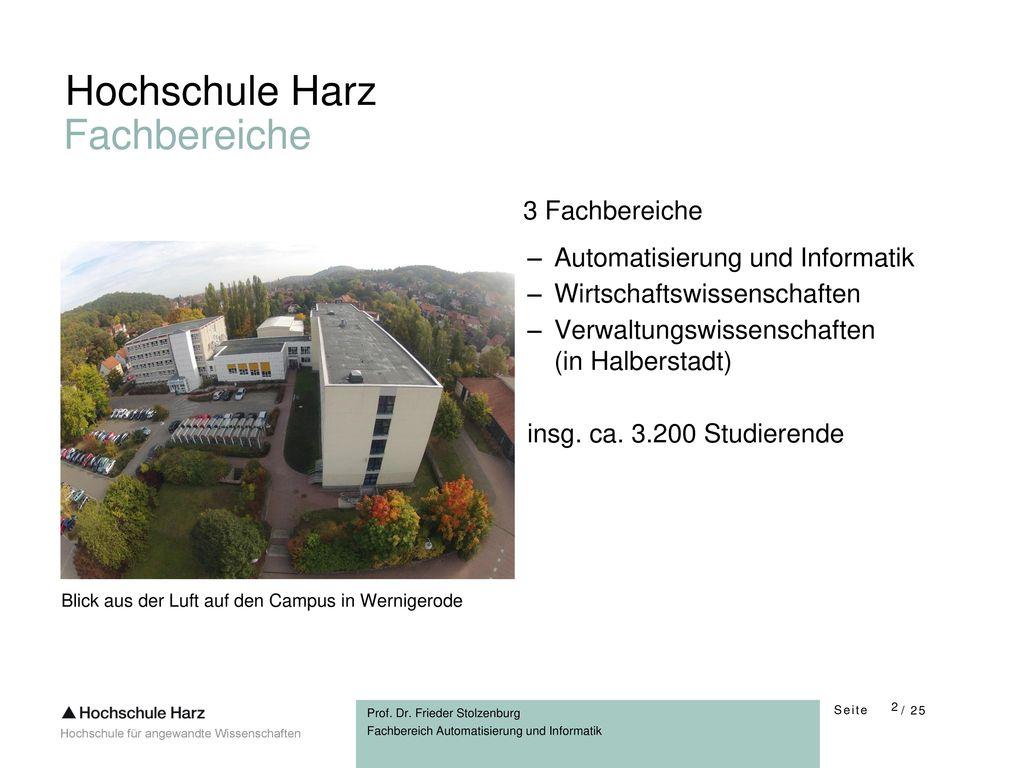 Hochschule Harz Fachbereiche 3 Fachbereiche