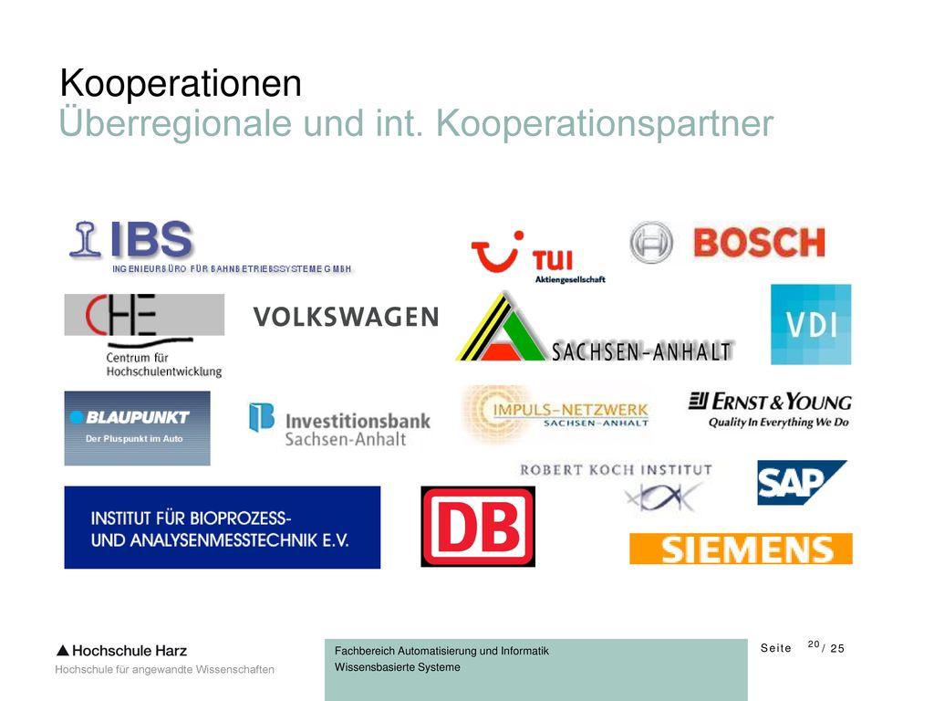 Kooperationen Überregionale und int. Kooperationspartner