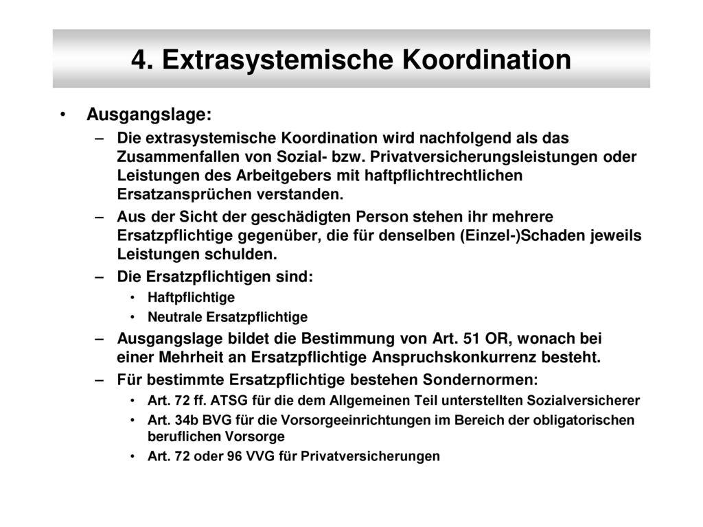 4. Extrasystemische Koordination