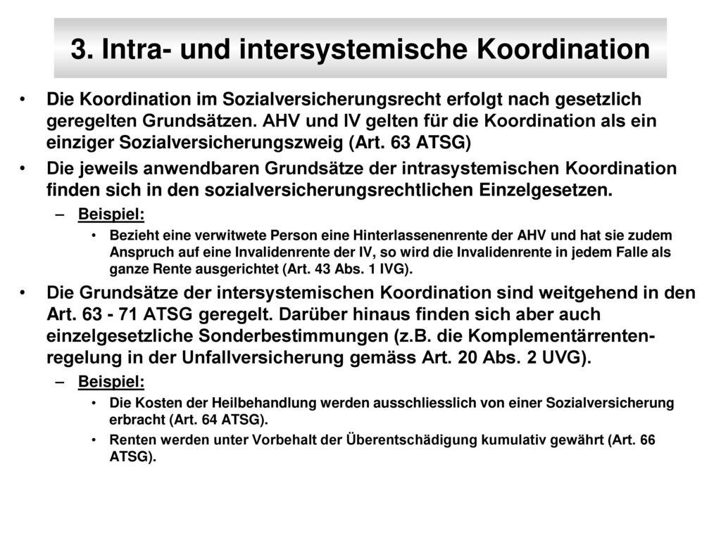 3. Intra- und intersystemische Koordination