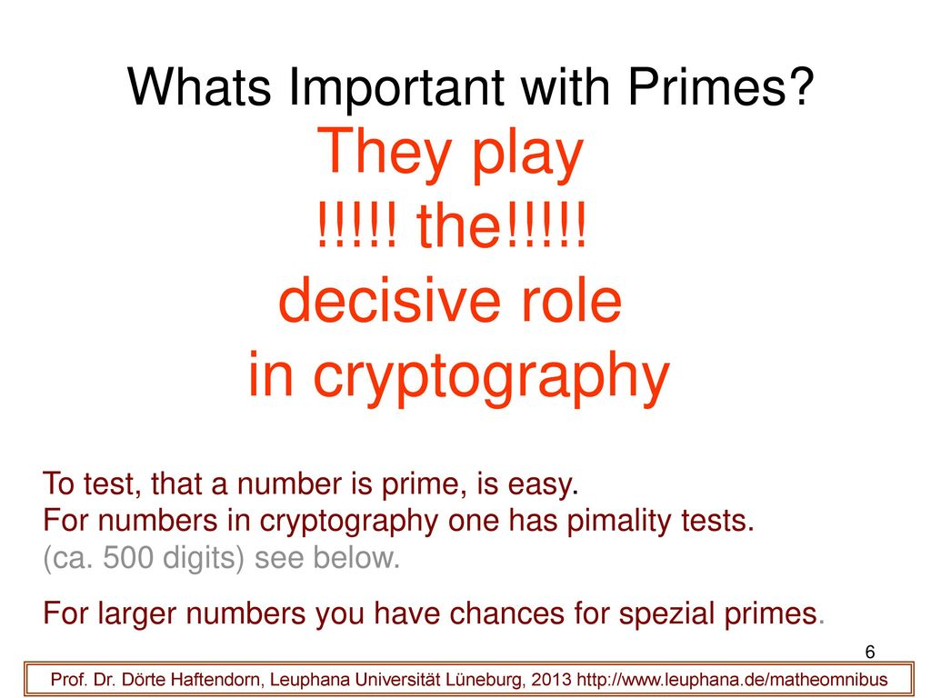 Whats Important with Primes