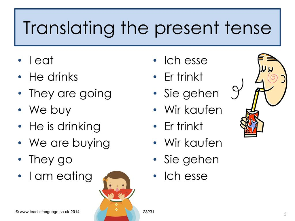 Translating the present tense