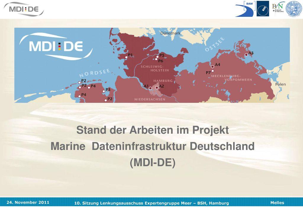 Stand der Arbeiten im Projekt Marine Dateninfrastruktur Deutschland