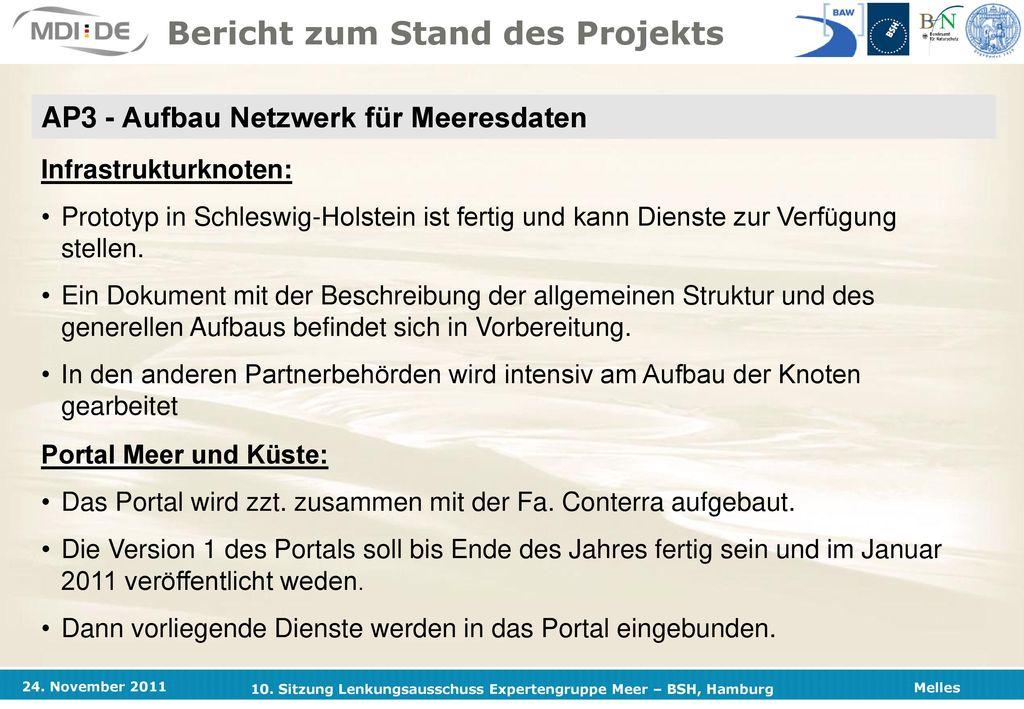 Projektpartner Bundesanstalt für Wasserbau (Küsteningenieurwesen) BAW Hamburg.