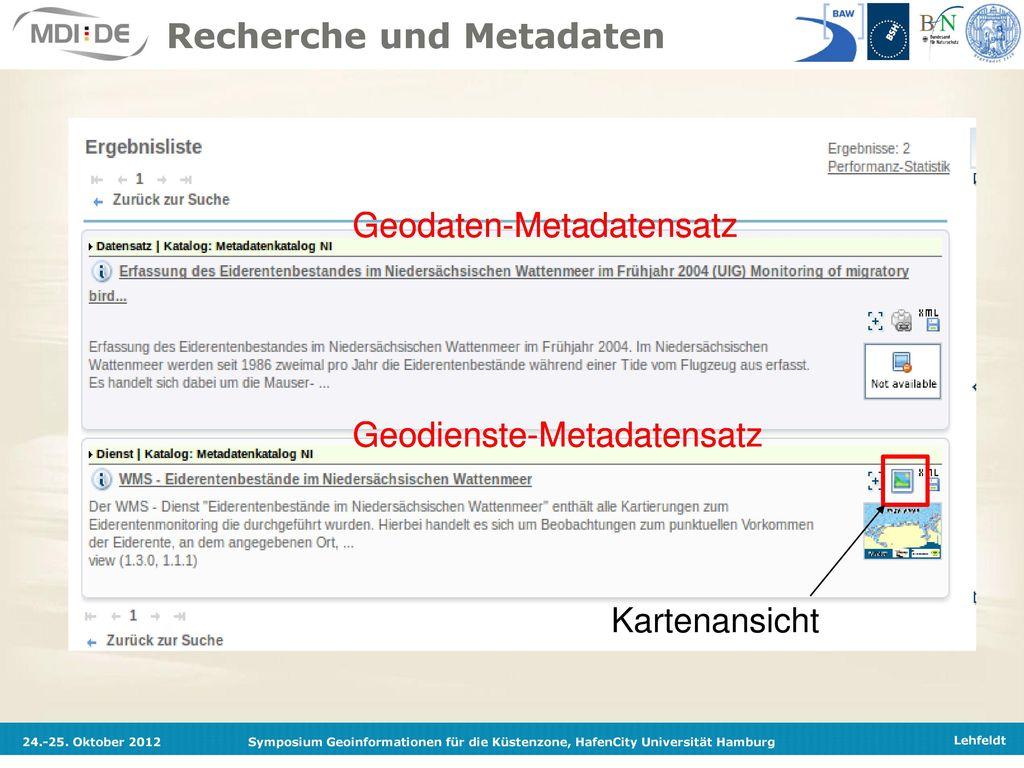 Recherche und Metadaten