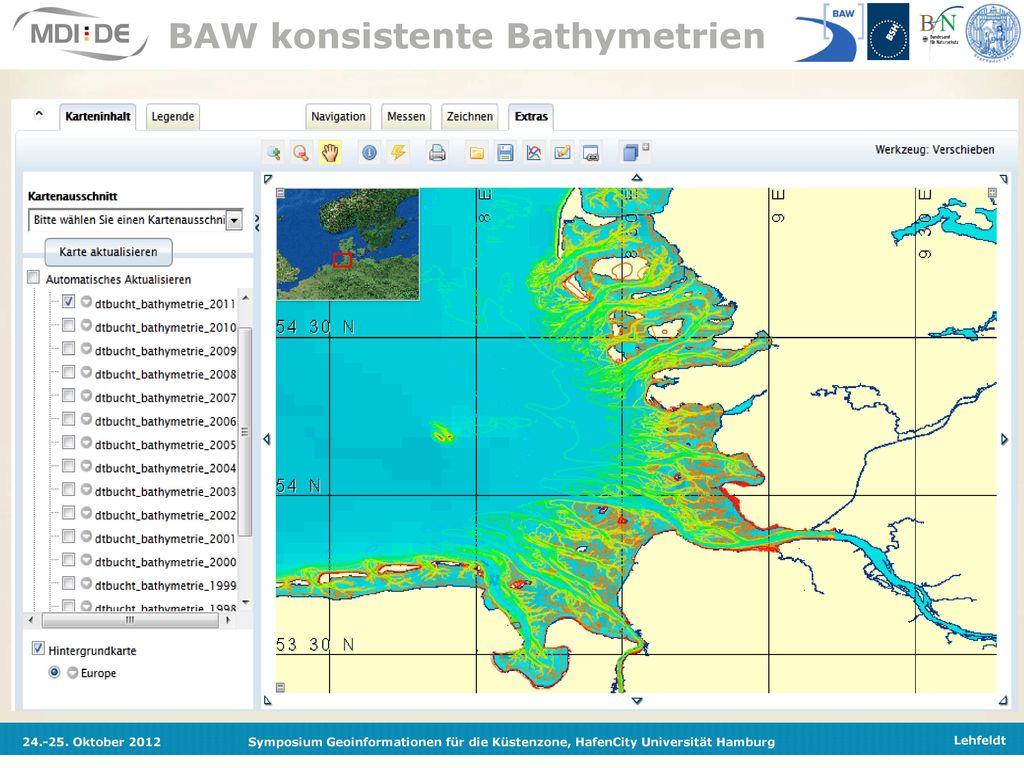 BAW konsistente Bathymetrien