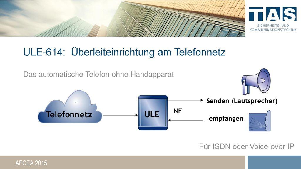 ULE-614: Überleiteinrichtung am Telefonnetz