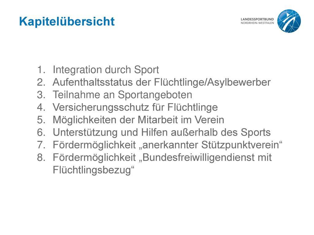 Kapitelübersicht Integration durch Sport
