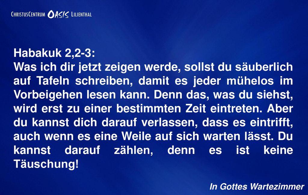 Habakuk 2,2-3: