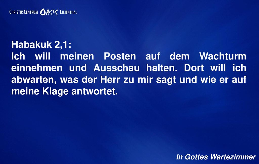 Habakuk 2,1: